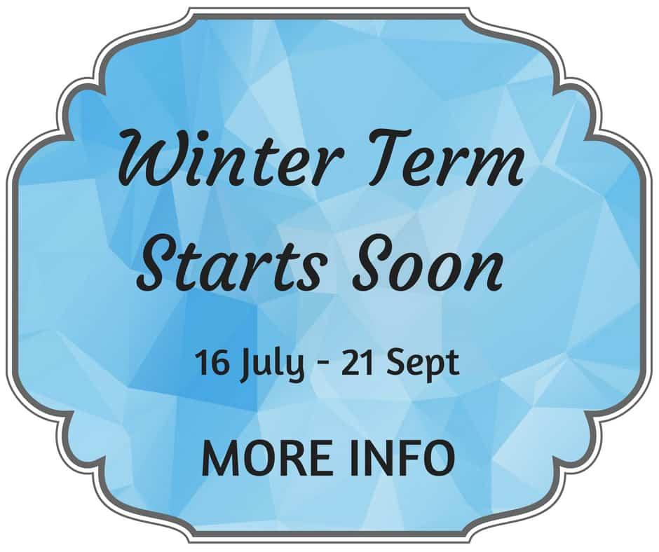 Winter Term Starts Soon Book Now!